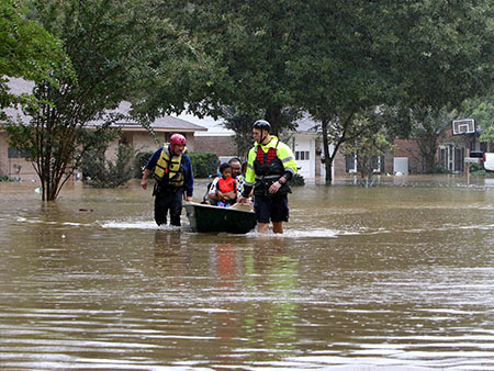 VIDEO: South Carolina Residents Take to Flooded Streets in Boats after Historic Rains