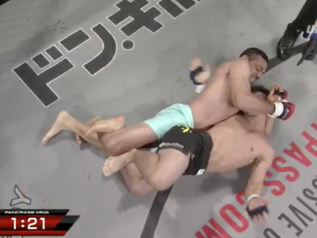 Video: Guy DeLumeau pulls off twister submission at Pancrase 279