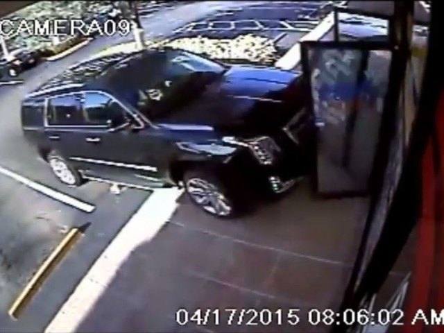 Video Captures Escalade's Smashing Entrance Into Dry Cleaners