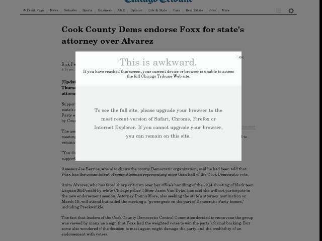 articles cook county states attorney alvarez political trouble
