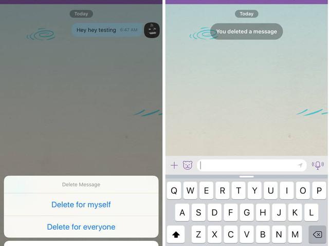 Viber Update Lets You Delete Sent Messages From Both Sides
