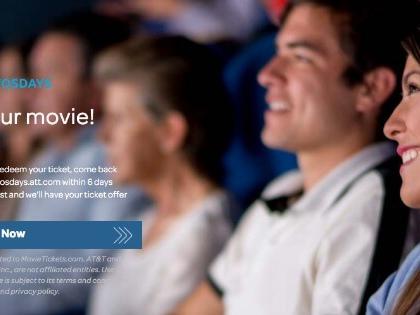 AT&T Customers Free BOGO Movie Ticket Offer – Ticket Twosdays
