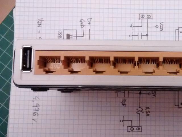 Add a USB Power Port to a 10/100 Switch