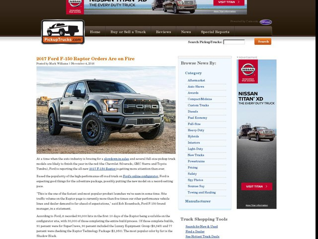 2017 Ford F-150 Raptor Orders Are on Fire