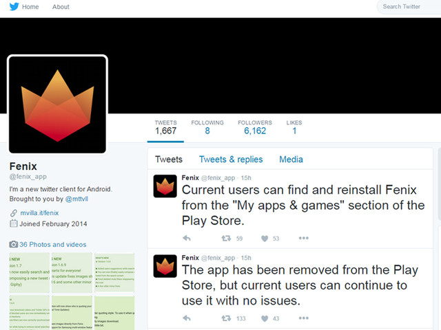 Popular Third-Party Twitter App Fenix For Android Gets Thrown Off Google Play Store: Why?