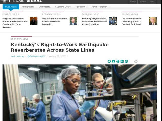 Kentucky's Right-to-Work Earthquake Reverberates Across State Lines