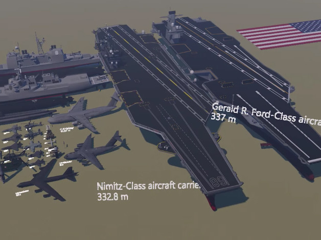 Video shows the massive size of the U.S. military's arsenal