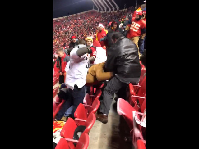 VIDEO: Raiders, Chiefs Fans Brawl In Stands