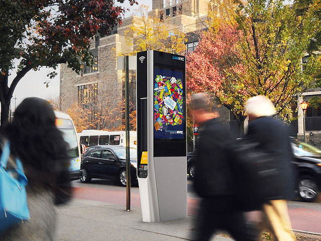 NYC launches its pay phone-replacing free WiFi hubs