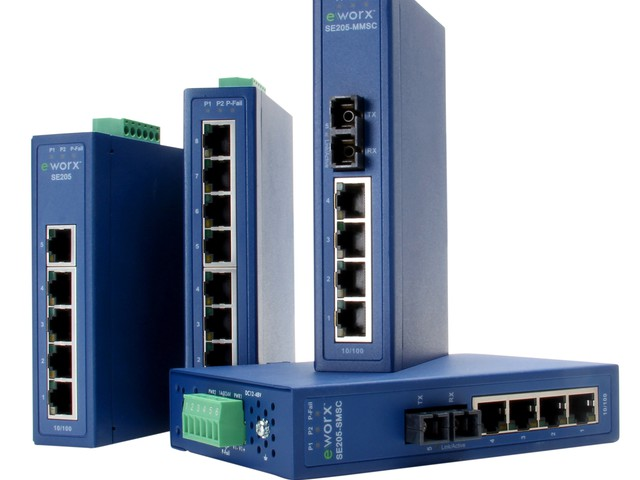 B+B SmartWorx Expands its eWorx Industrial Ethernet Switch Product...