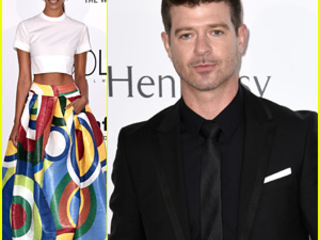 Robin Thicke & April Love Geary Hit Up Cannes' amfAR Gala