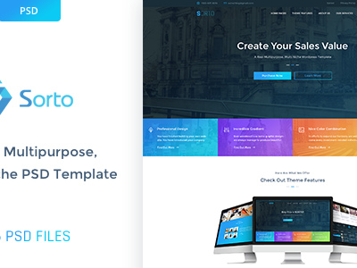 Sorto Multipurpose PSD Template (Creative)