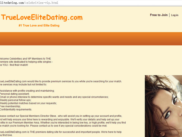 Some Celebrities and VIP Singles Are Dating at TrueLoveEliteDating.com...