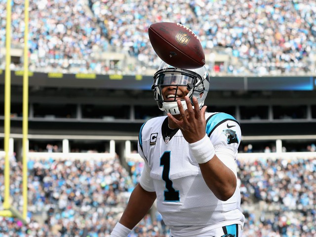 Why does Cam Newton give footballs away to kids?