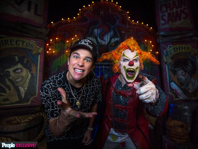 VIDEO: Watch Austin Mahone Scream As he Walks Through A Haunted House!