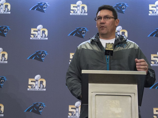 Ron Rivera named NFL Coach of the Year after leading Panthers to Super Bowl
