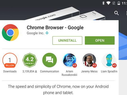 Chrome for Android Hits 1 Billion Installs