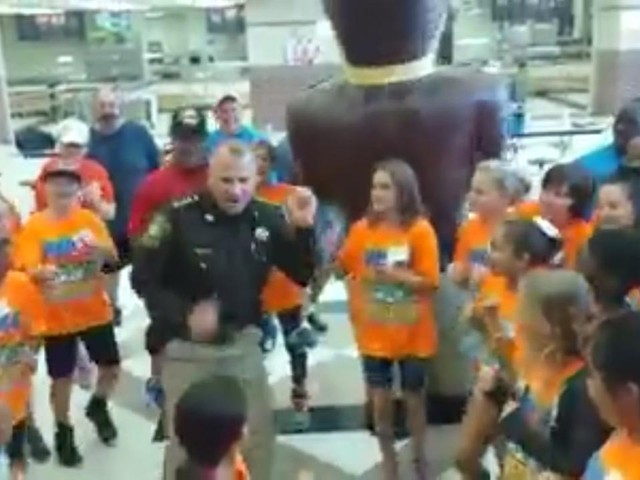 VIDEO: Sheriff Nehls takes on the running man challenge