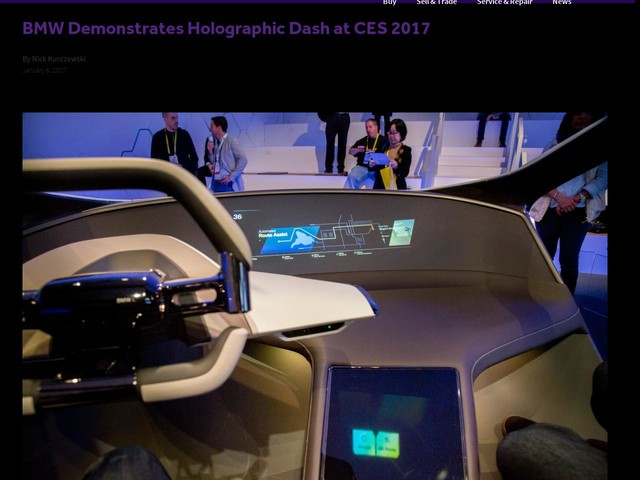 BMW Demonstrates Holographic Dash at CES 2017