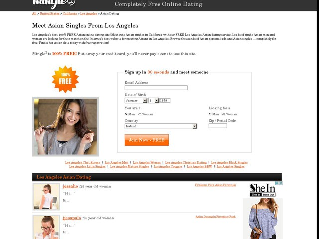 Los Angeles Asian Dating Website, Los Angeles Asian Personals, Los Angeles Asian Singles - Free Online Dating