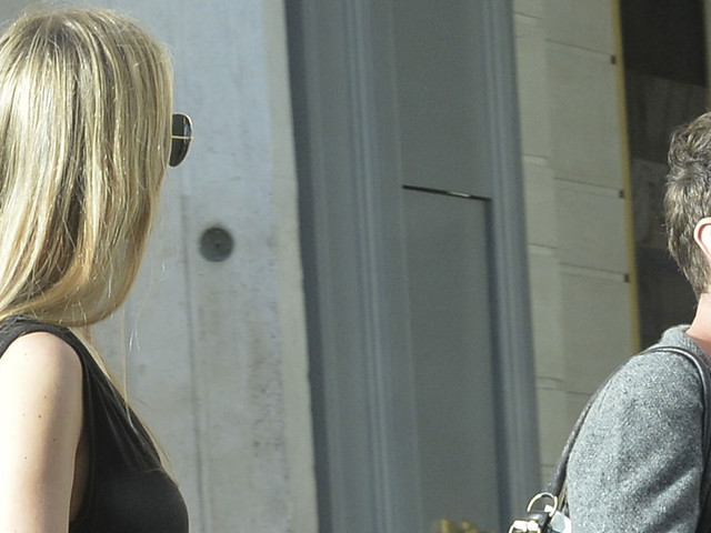 Jude Law & Girlfriend Phillipa Coan Take a Stroll Around Rome
