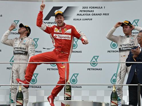 Sebastian Vettel wins F1's Malaysia GP to leave Lewis Hamilton frustrated