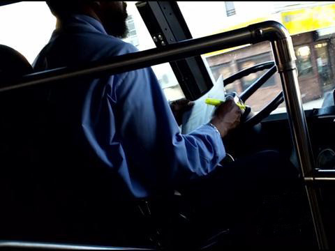 Video Purportedly Shows MTA Bus Operator Distracted While Driving