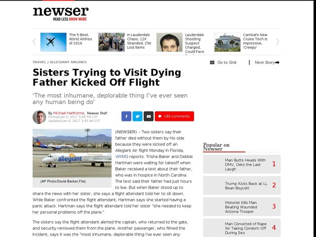 Sisters Trying to Visit Dying Father Kicked Off Flight