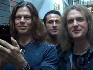 MEGADETH's ELLEFSON, BRODERICK: Video Footage Of Mexico City Meet-And-Greet
