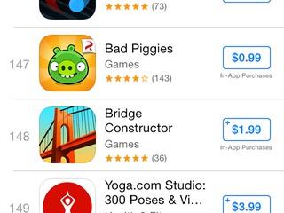 Apple tweaks Top Charts in App Store on iOS