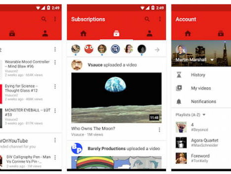 YouTube For Android Update Gives It A Facelift
