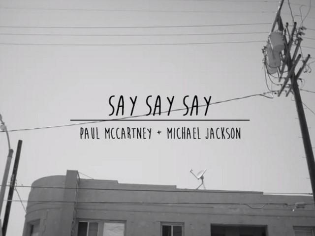 Video | Paul McCartney & Michael Jackson - Say Say Say