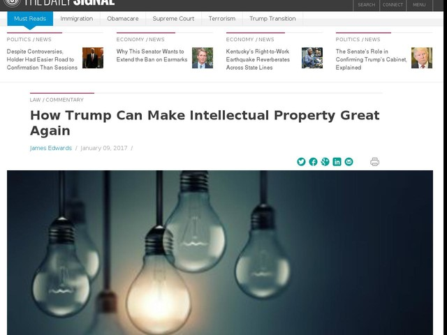 How Trump Can Make Intellectual Property Great Again