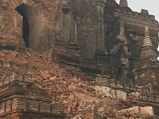 Video shows Myanmar Buddhist temples damaged by earthquake
