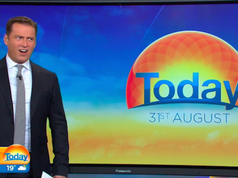 Video of an enormous shark leaping out of the water left this news anchor speechless