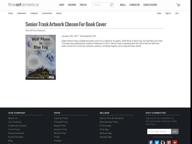 Senior-trask Artwork Chosen For Book Cover