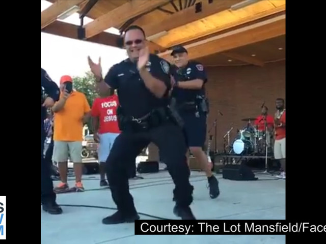 Video Of Dancing Mansfield Officer Goes Viral After Benefit Concert
