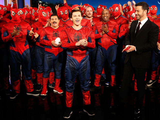 VIDEO: Tom Holland Suits Up With 'Spider-Man: Homecoming' Fans on Jimmy Kimmel Live!